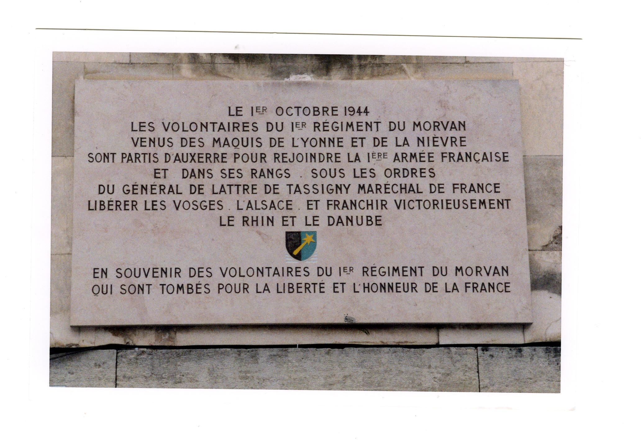plaque Morvan